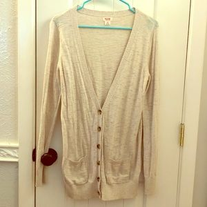Long Tan Boyfriend Cardigan
